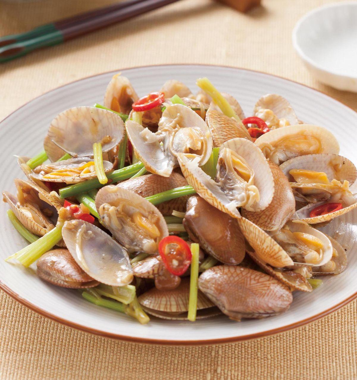 食譜:芹菜海瓜子