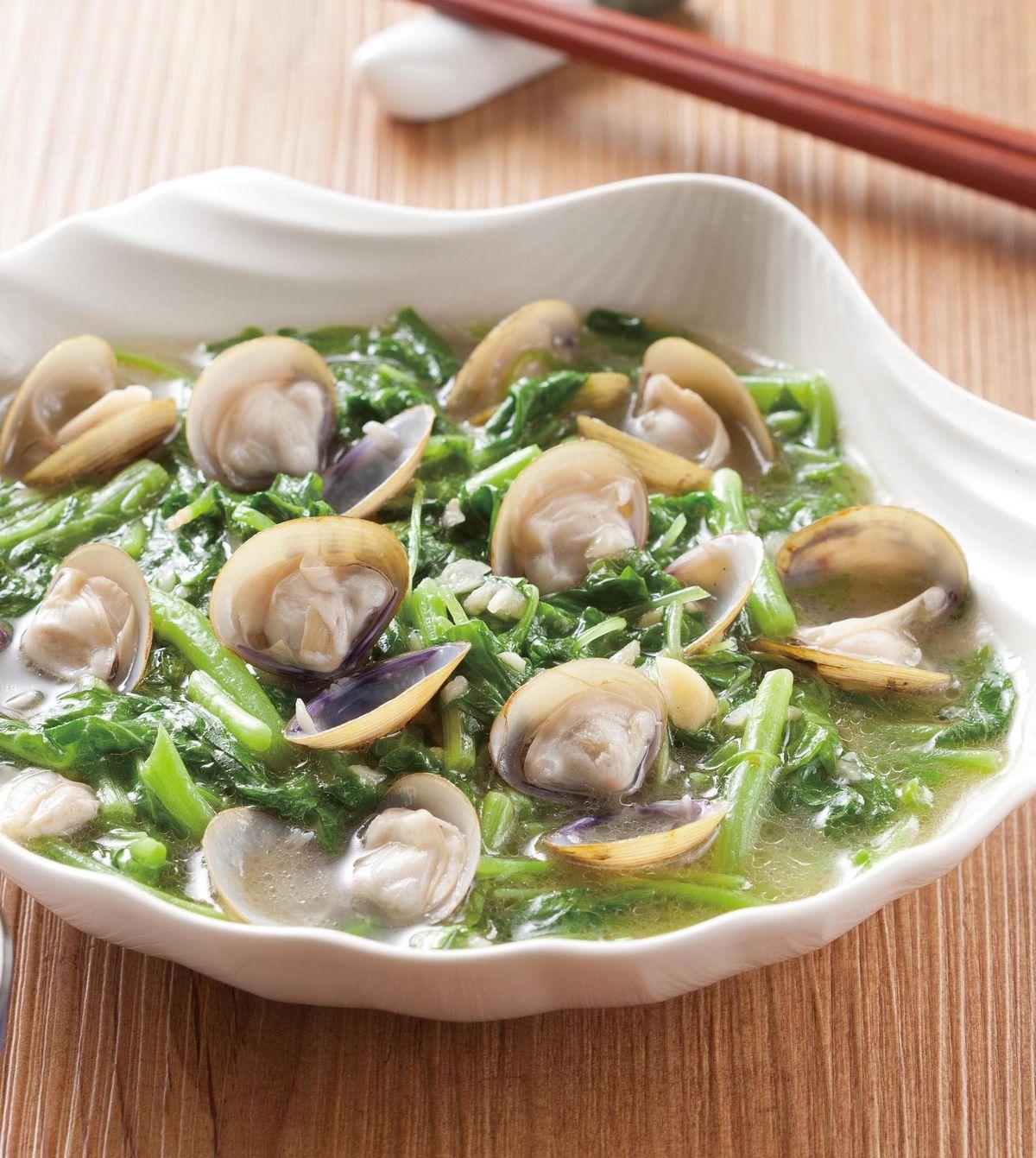 食譜:黃金蜆炒莧菜
