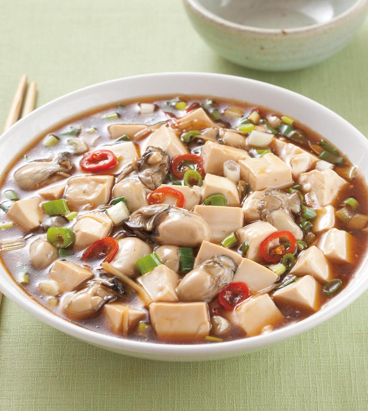 食譜:鮮蚵燴豆腐