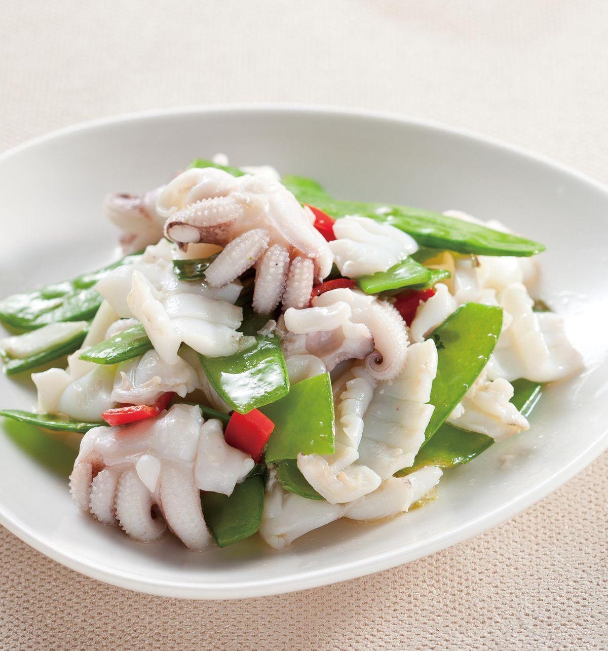食譜:荷蘭豆炒花枝