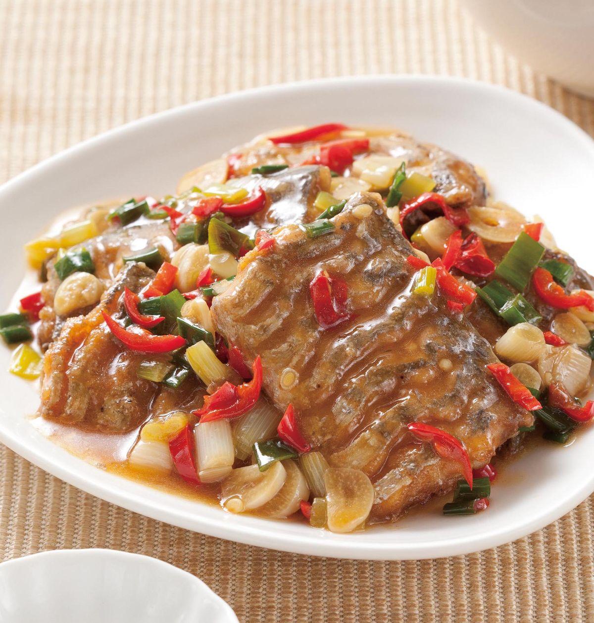 食譜:蔥燒白帶魚