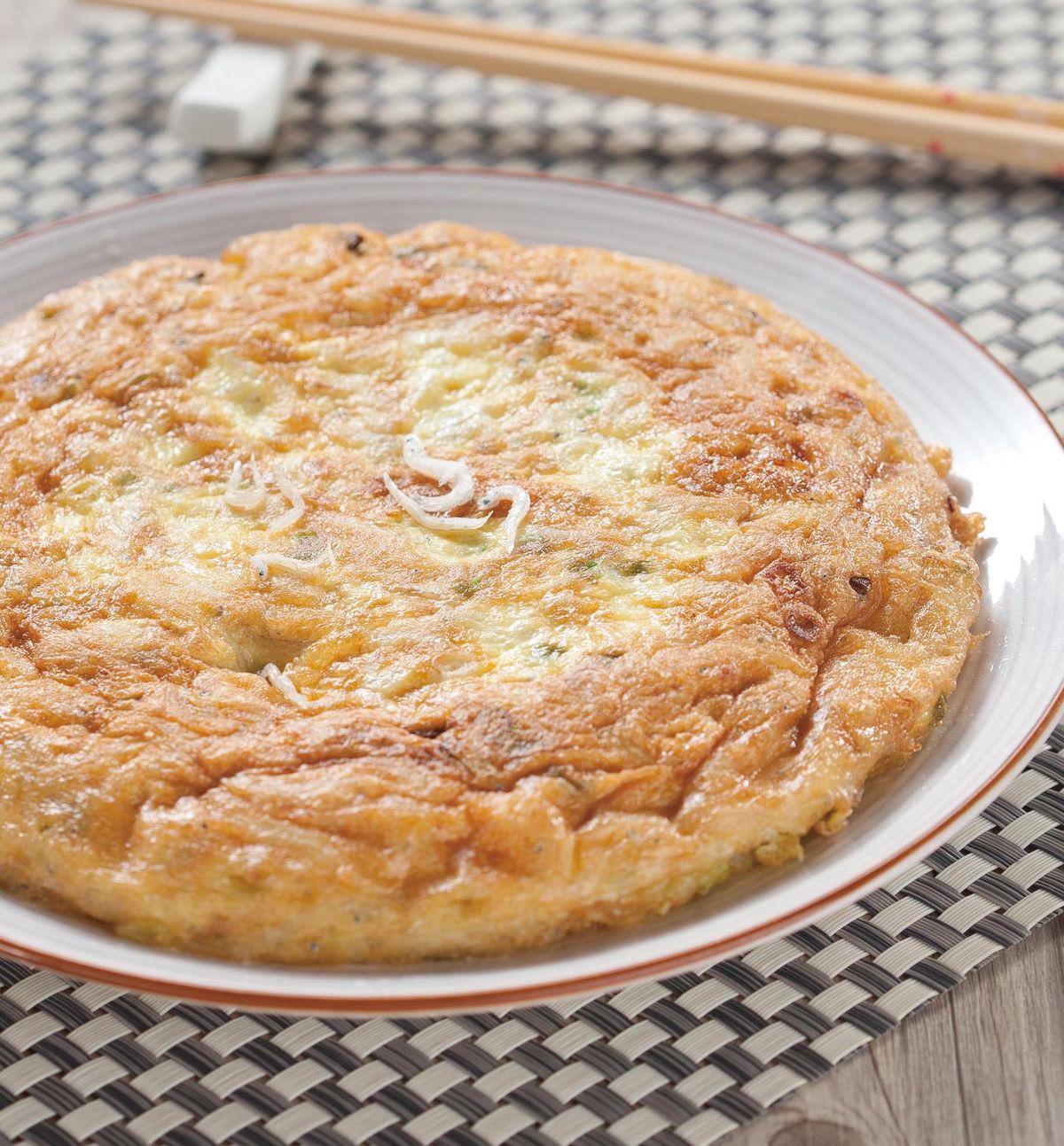食譜:吻仔魚煎蛋(2)