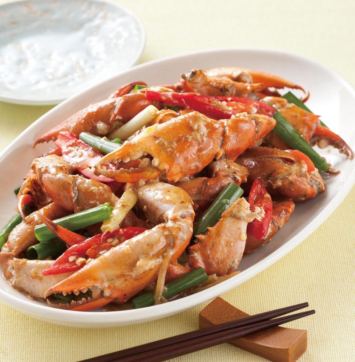 食譜:蔥爆蟹腳(1)