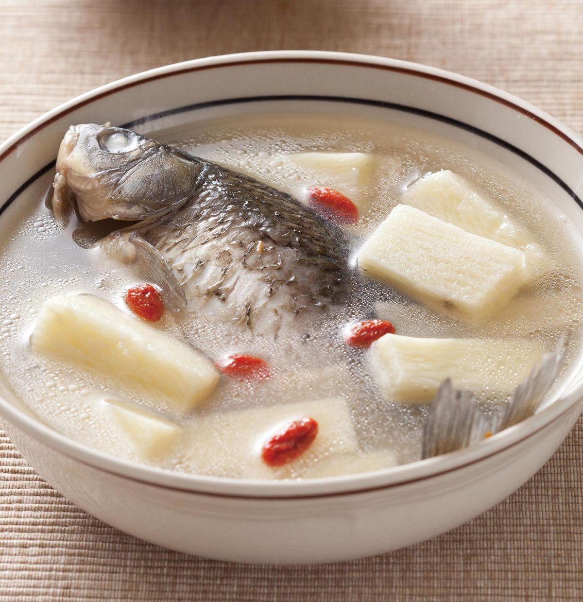 食譜:山藥鯽魚湯