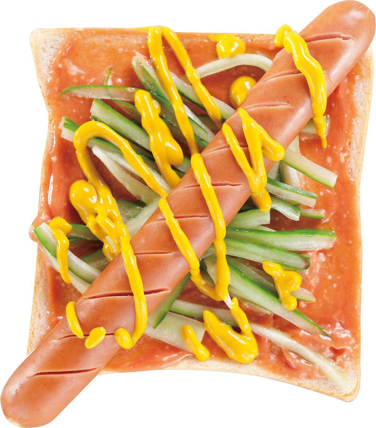 食譜:熱狗小黃瓜土司