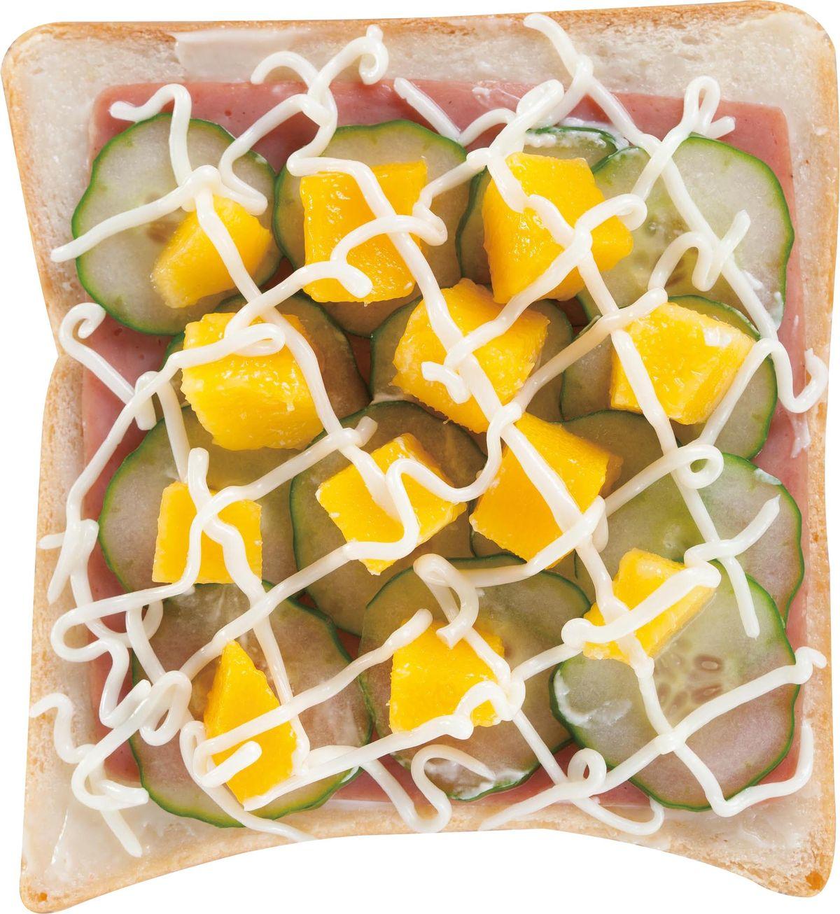 食譜:芒果小黃瓜土司