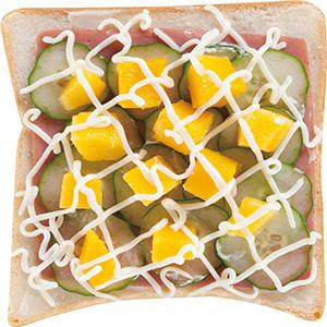 芒果小黃瓜土司