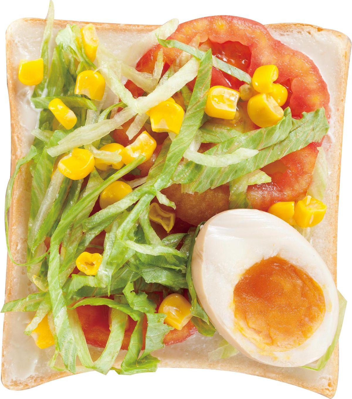 食譜:鮮蔬糖心蛋土司