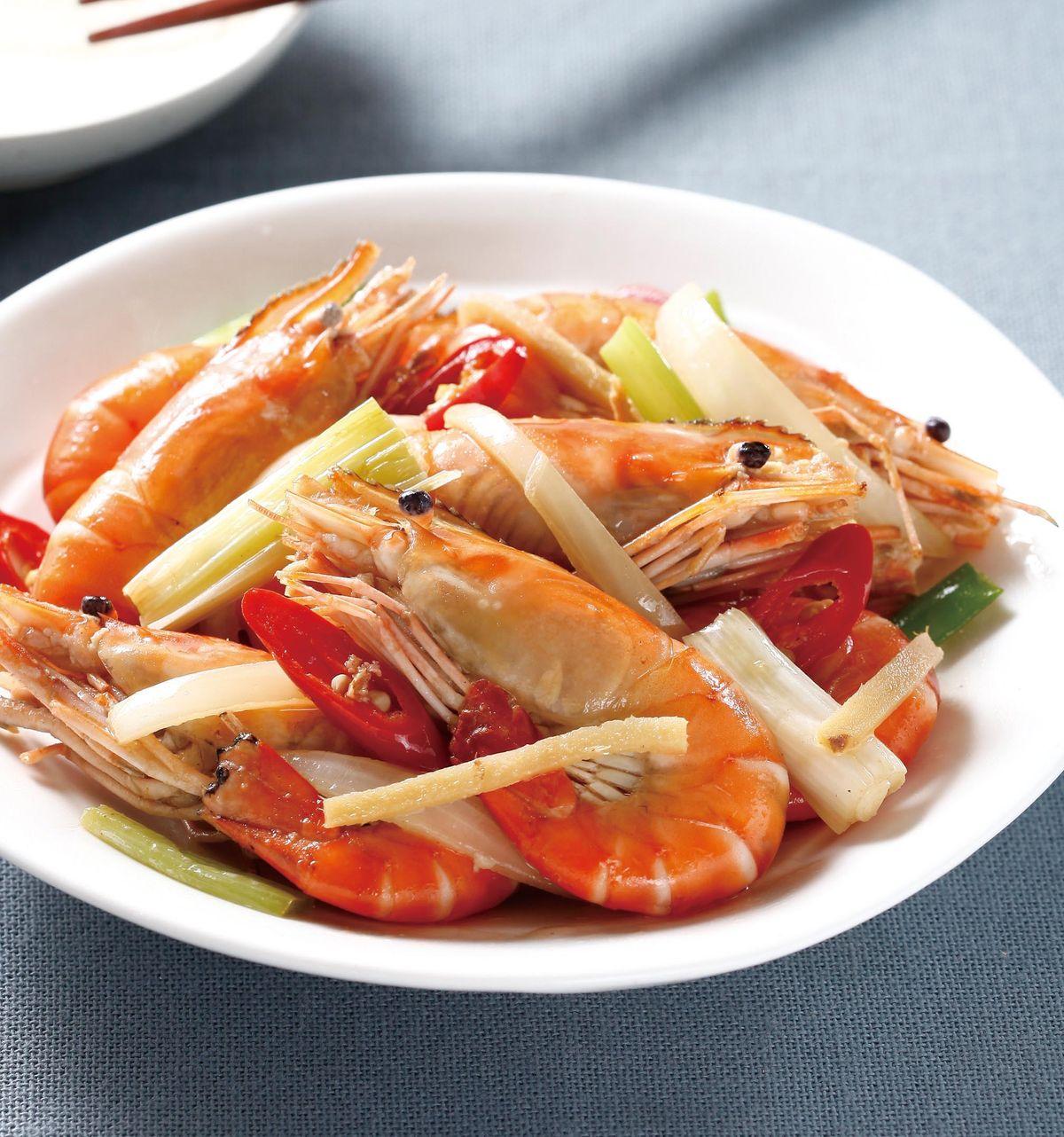 食譜:豬油炒鮮蝦