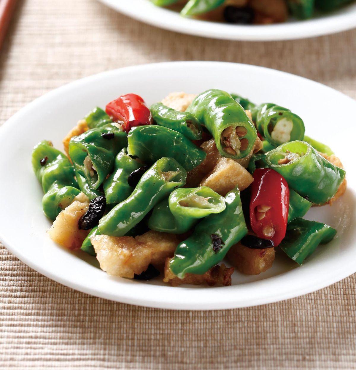 食譜:豬油渣炒豆豉糯米椒