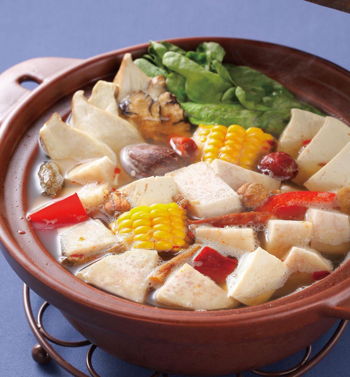 食譜:風味素菜鍋