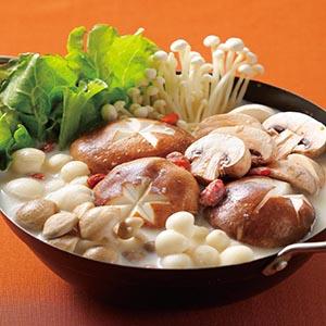 豆漿菇菇鍋