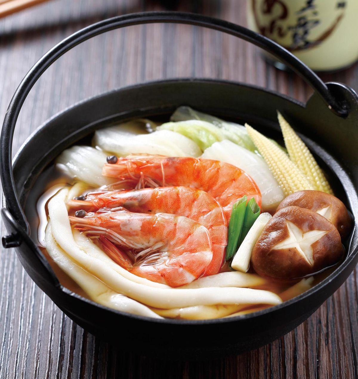 食譜:鮮蝦粄條鍋
