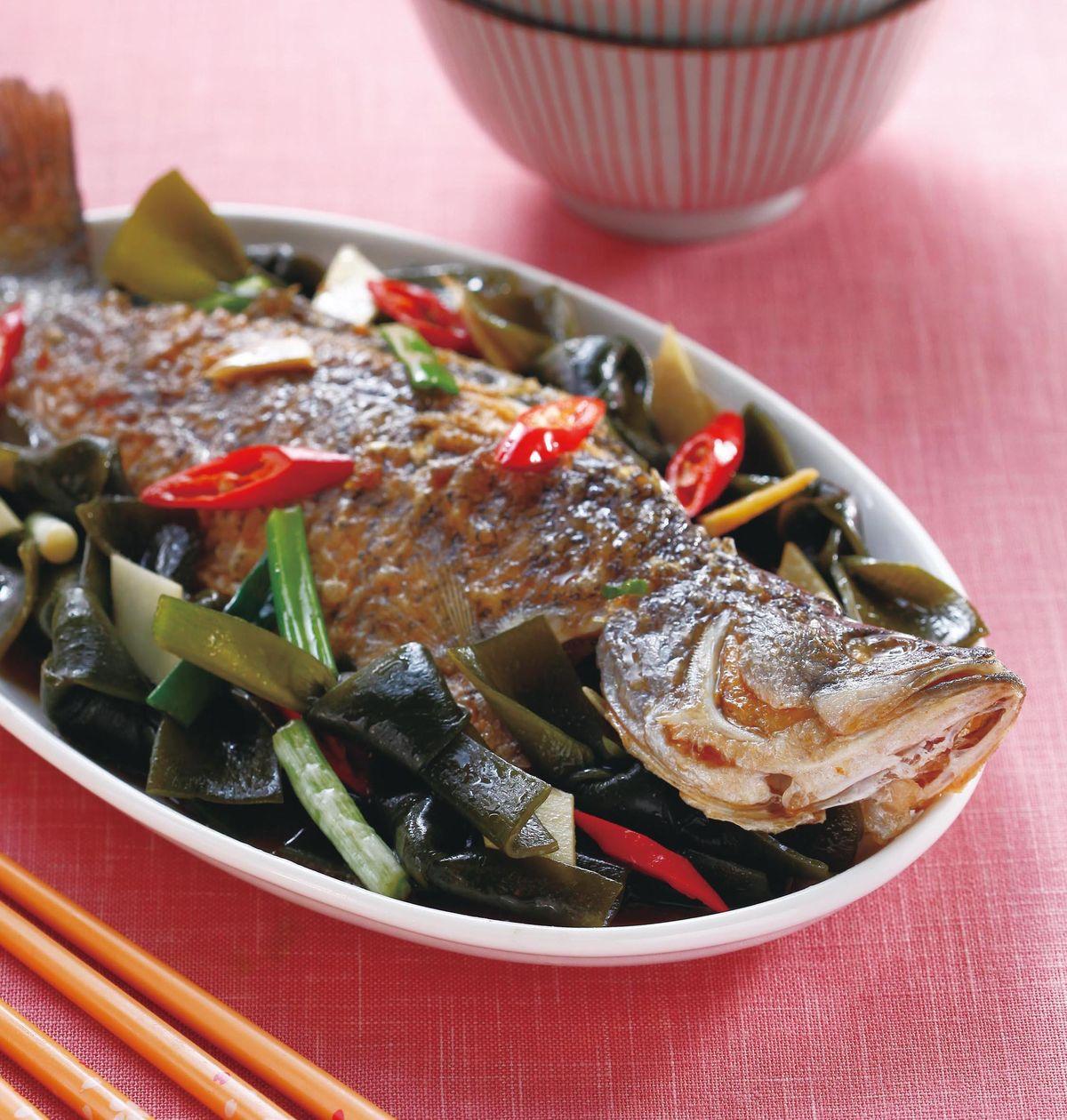 食譜:海帶燒魚