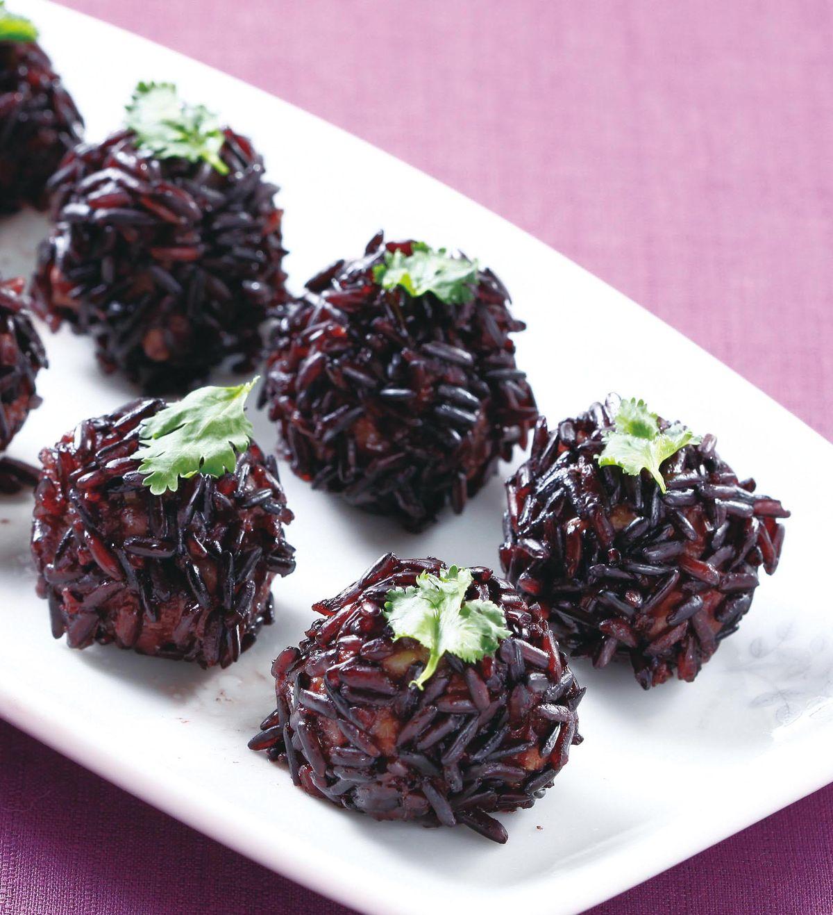 食譜:紫米珍珠丸子