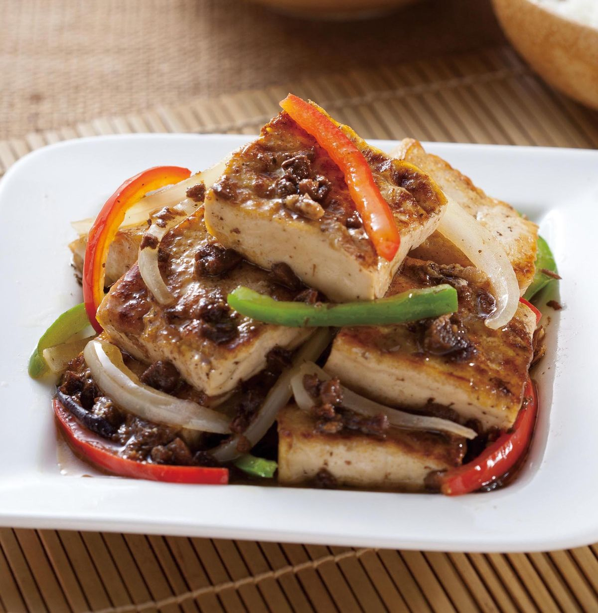 食譜:香椿燒豆腐