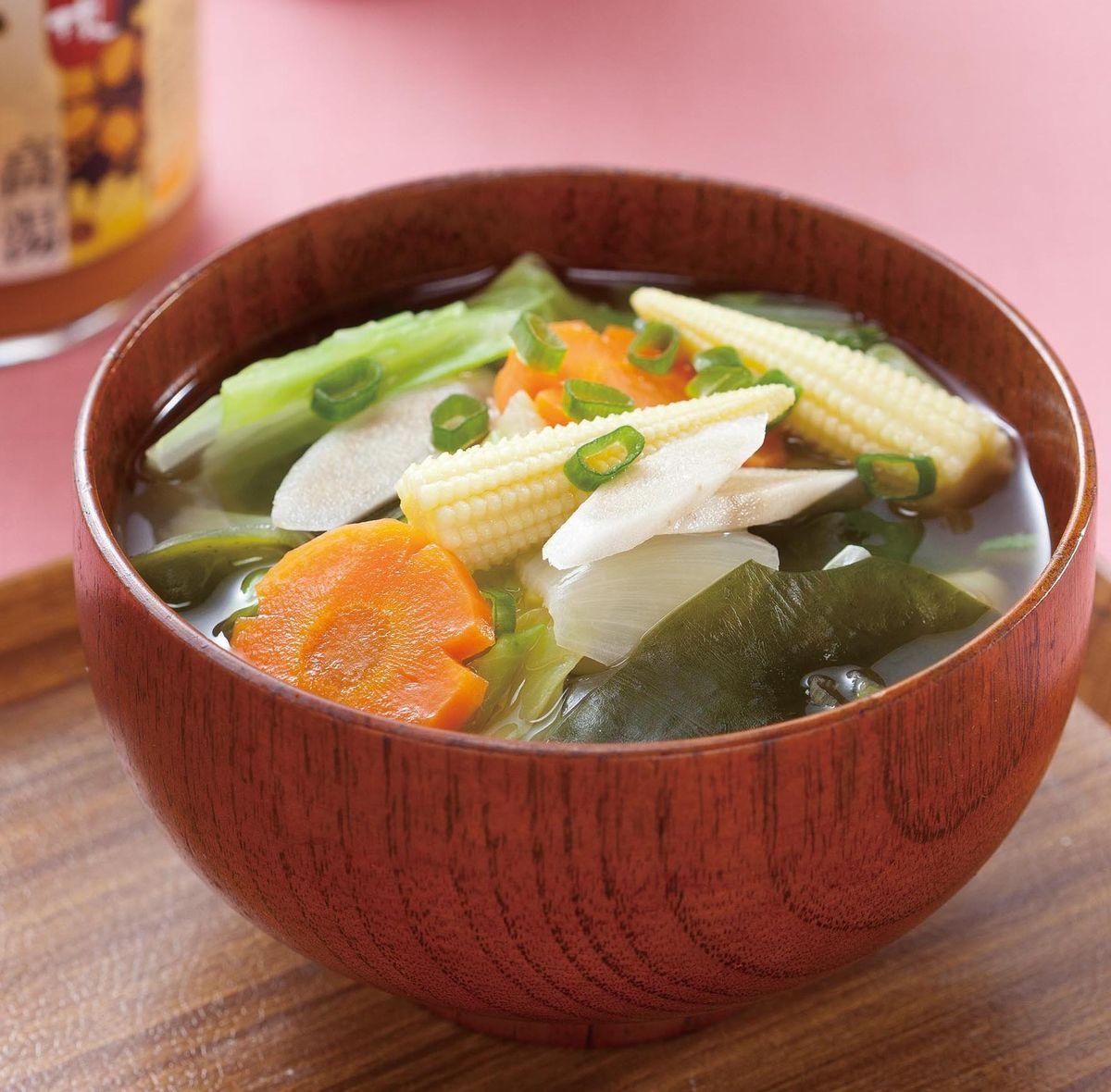 食譜:蔬菜味噌湯(1)