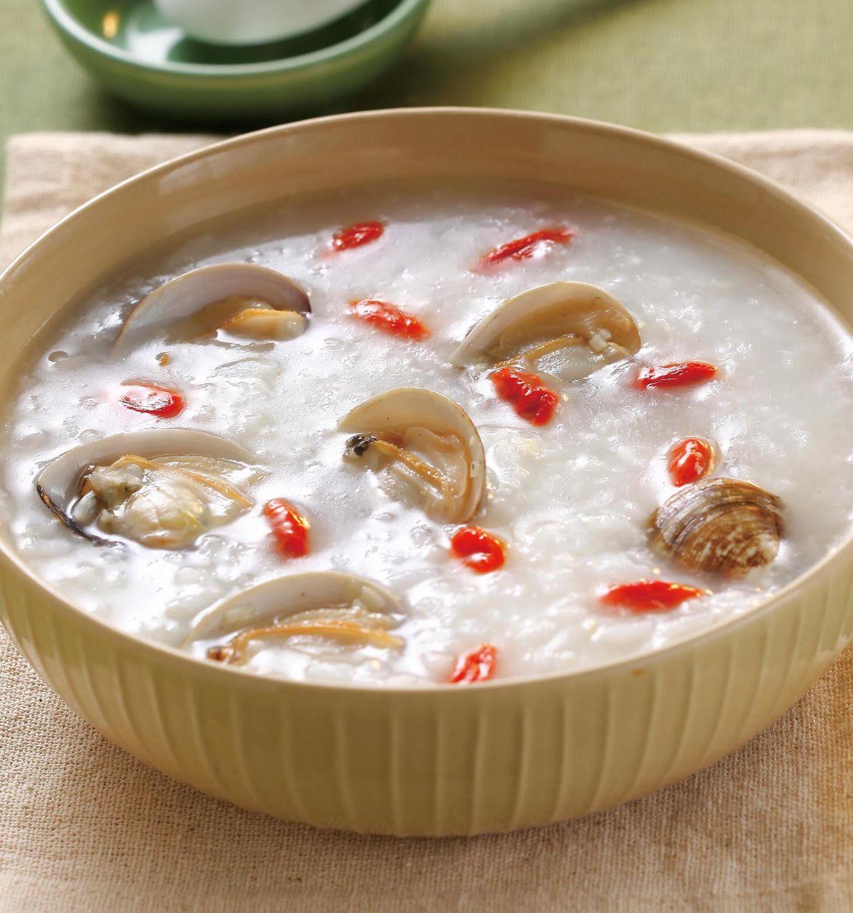 食譜:蛤蜊枸杞粥