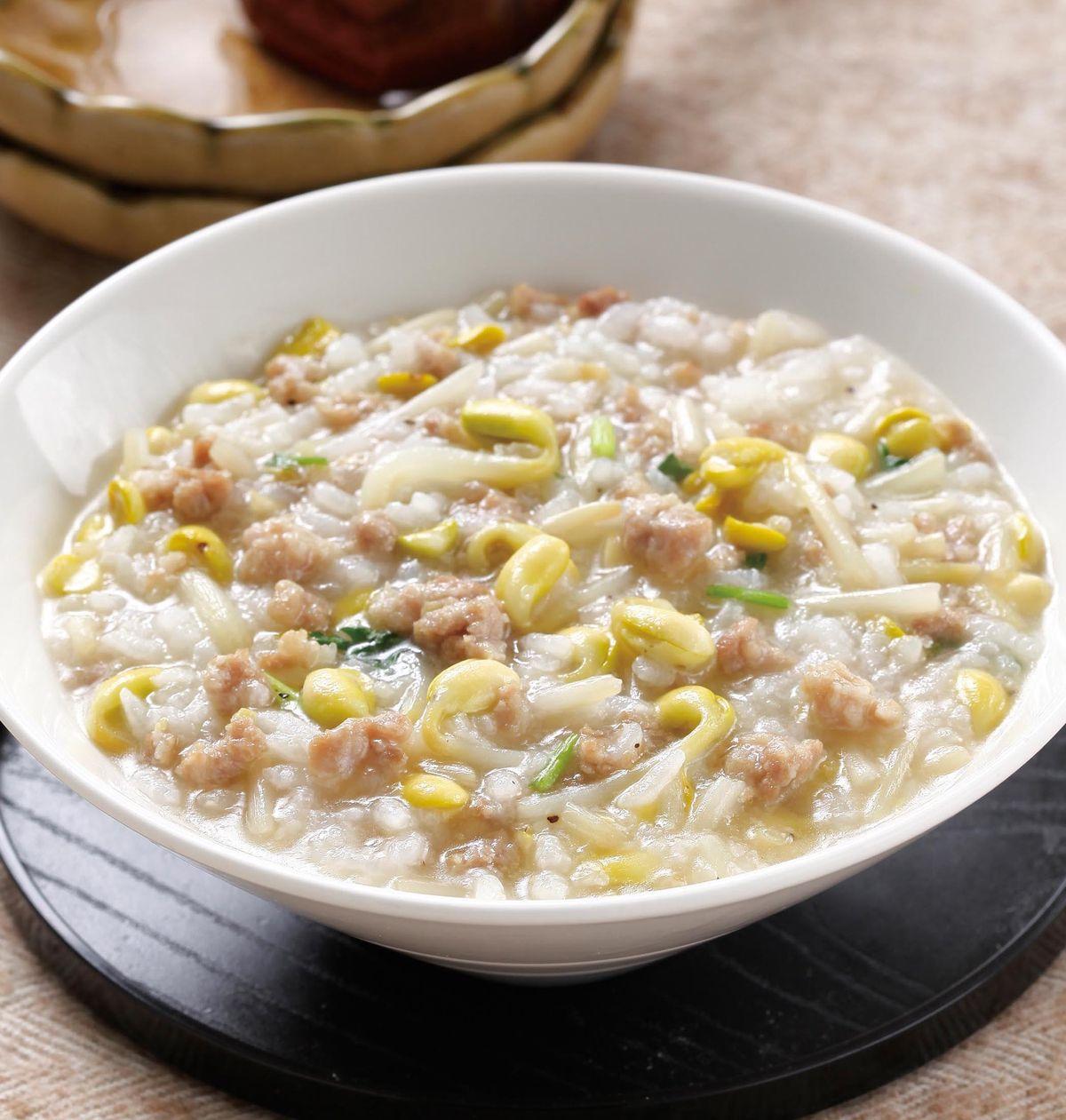 食譜:黃豆苗瘦肉粥