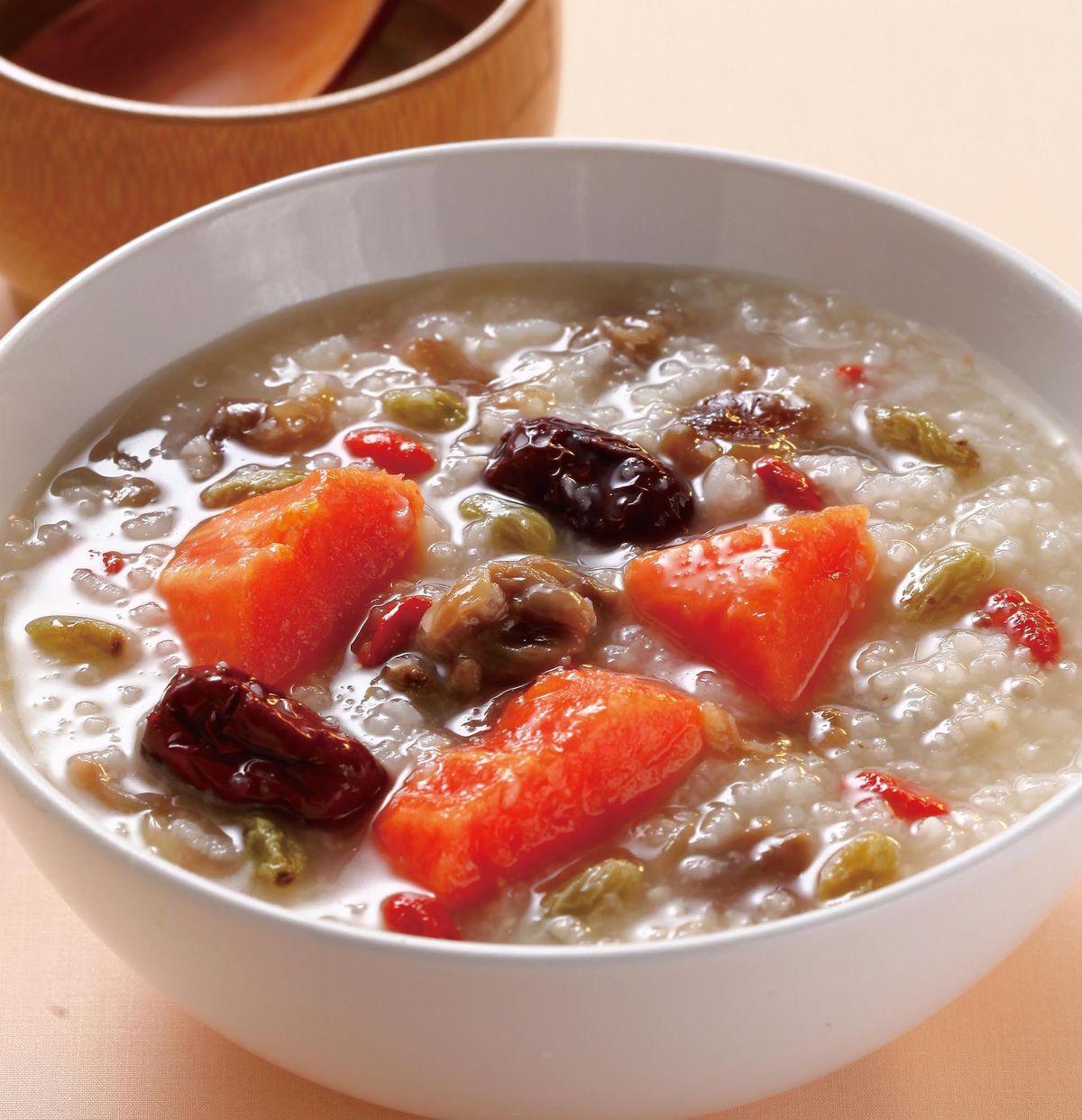 食譜:養顏木瓜粥