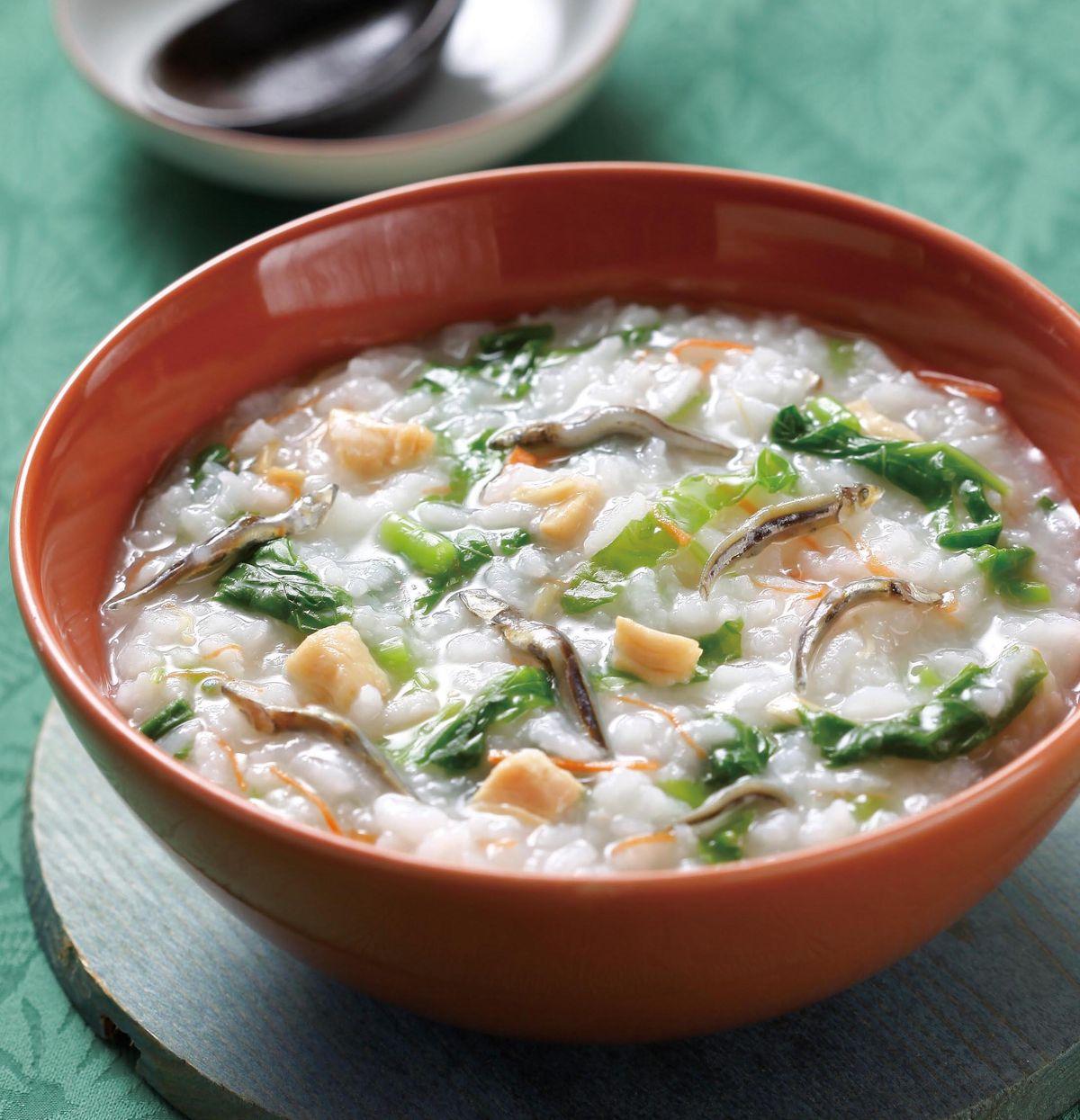 食譜:莧菜干貝小豆粥