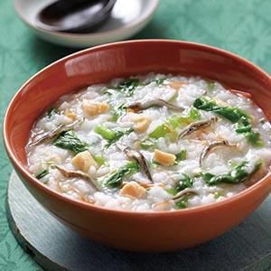 莧菜干貝小豆粥
