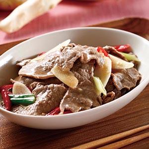 嫩薑炒牛肉片