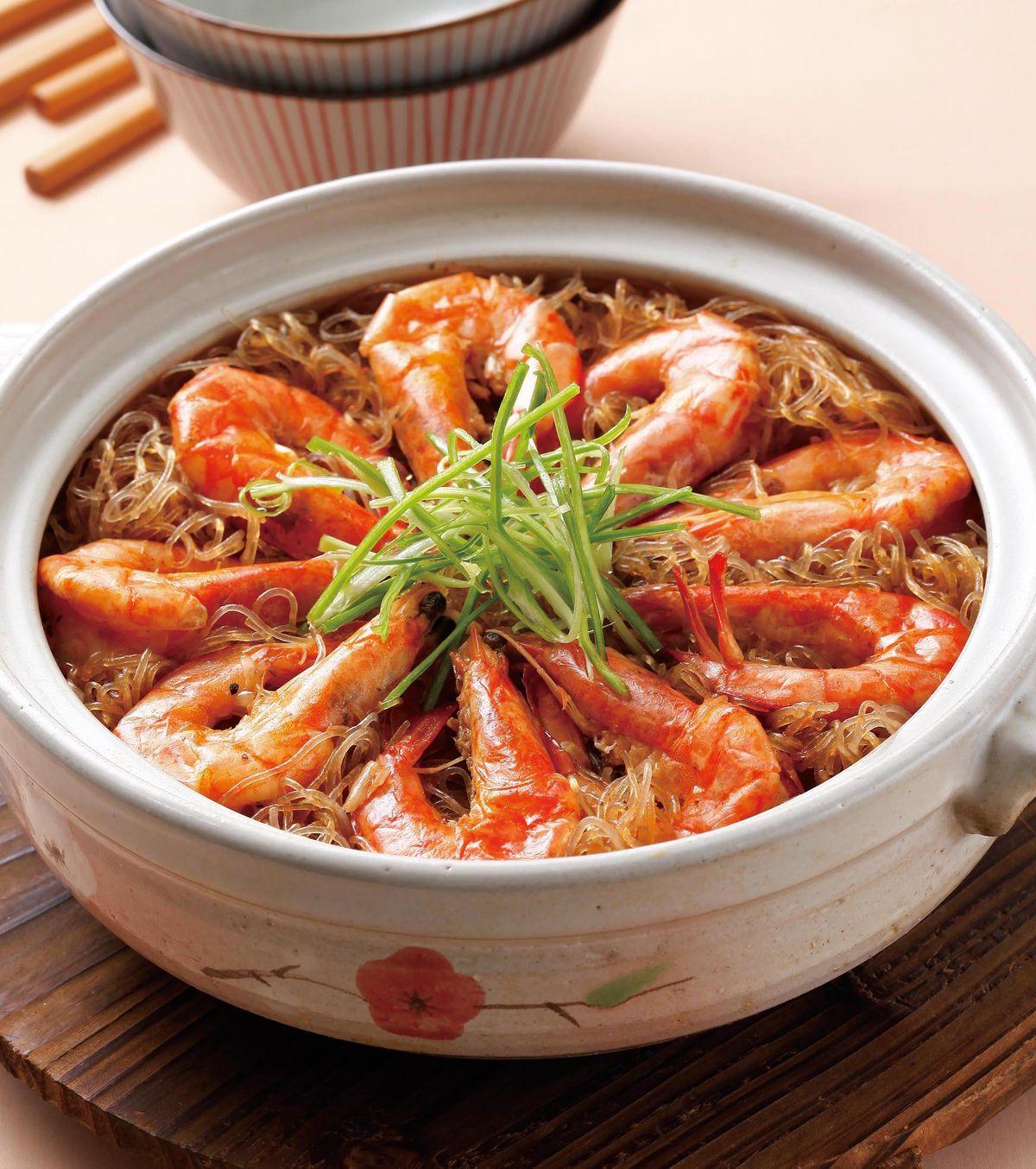 食譜:鮮蝦粉絲煲(3)
