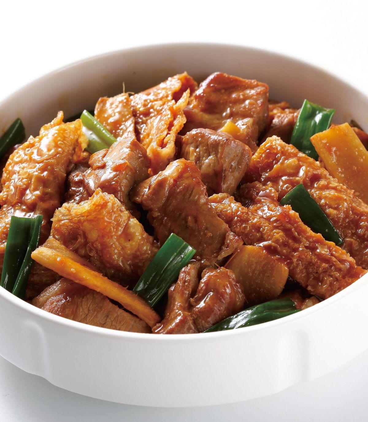 食譜:蜜汁薑蔥梅肉