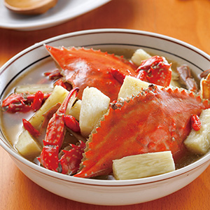 花雕山藥燉螃蟹