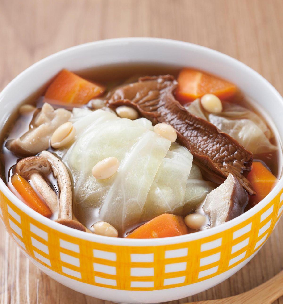 食譜:鮮蔬蕈菇湯