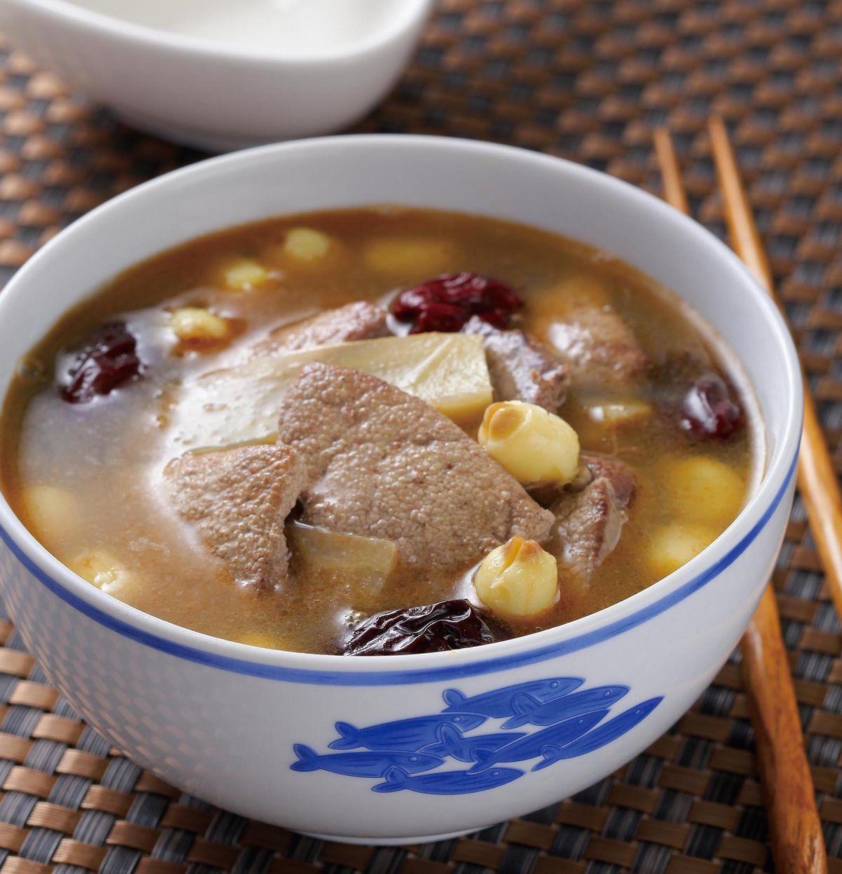 食譜:茶油蓮子豬肝湯