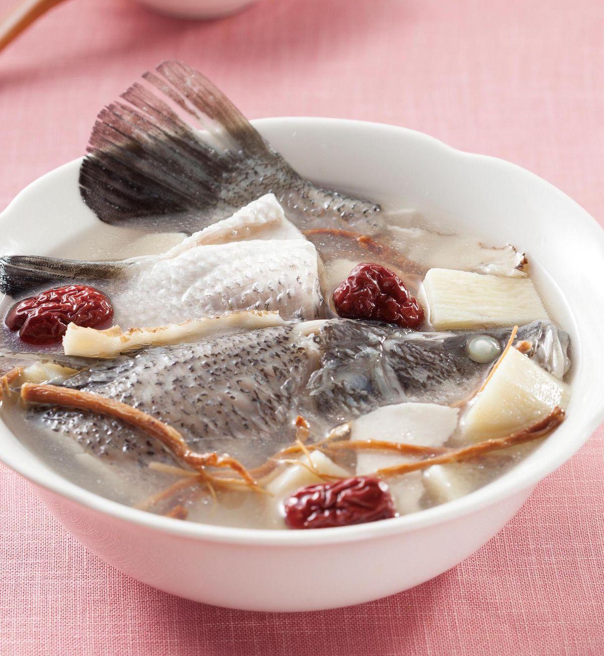 食譜:藥膳鱸魚湯