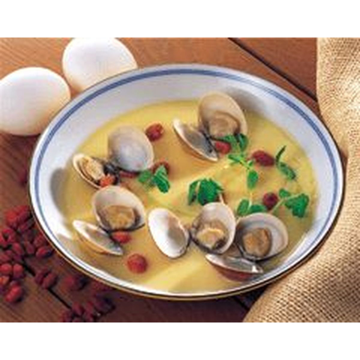 食譜:枸杞蛤蜊蒸蛋