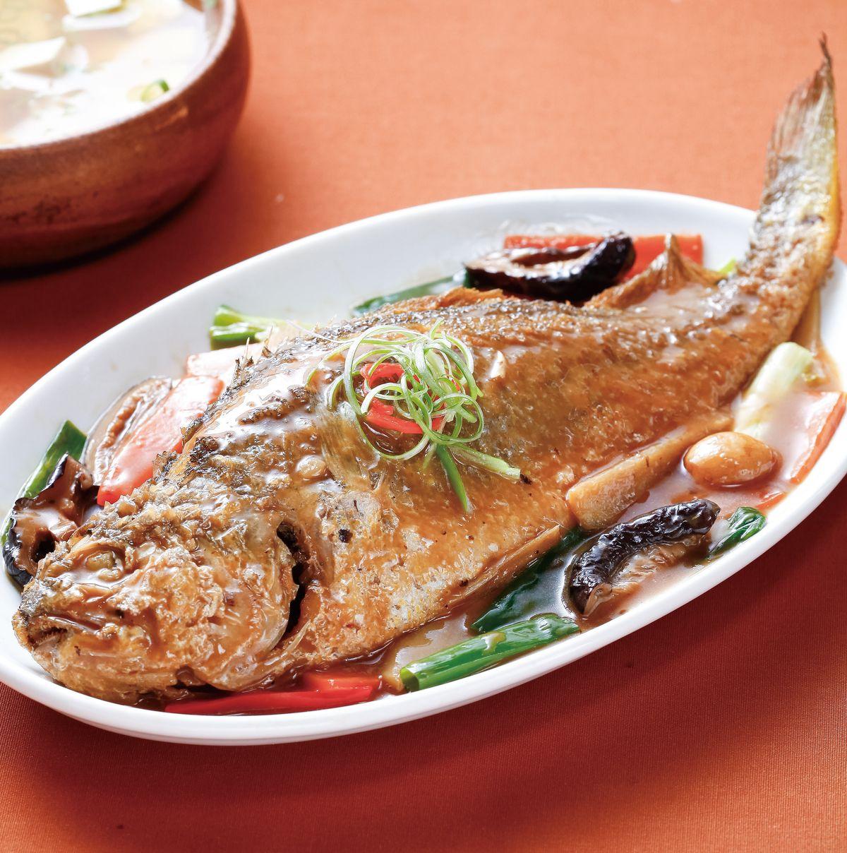 食譜:紅燒黃魚