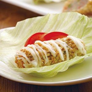 杏仁生菜蝦卷