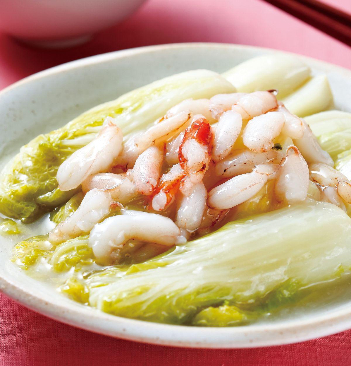 食譜:蟹肉燴白菜芽