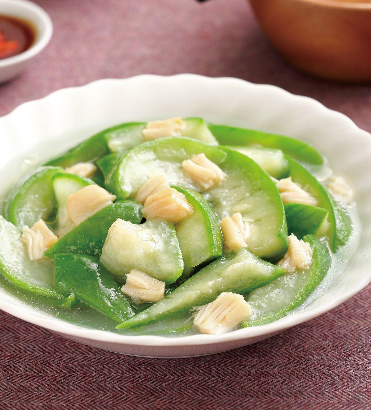 食譜:干貝絲瓜(1)