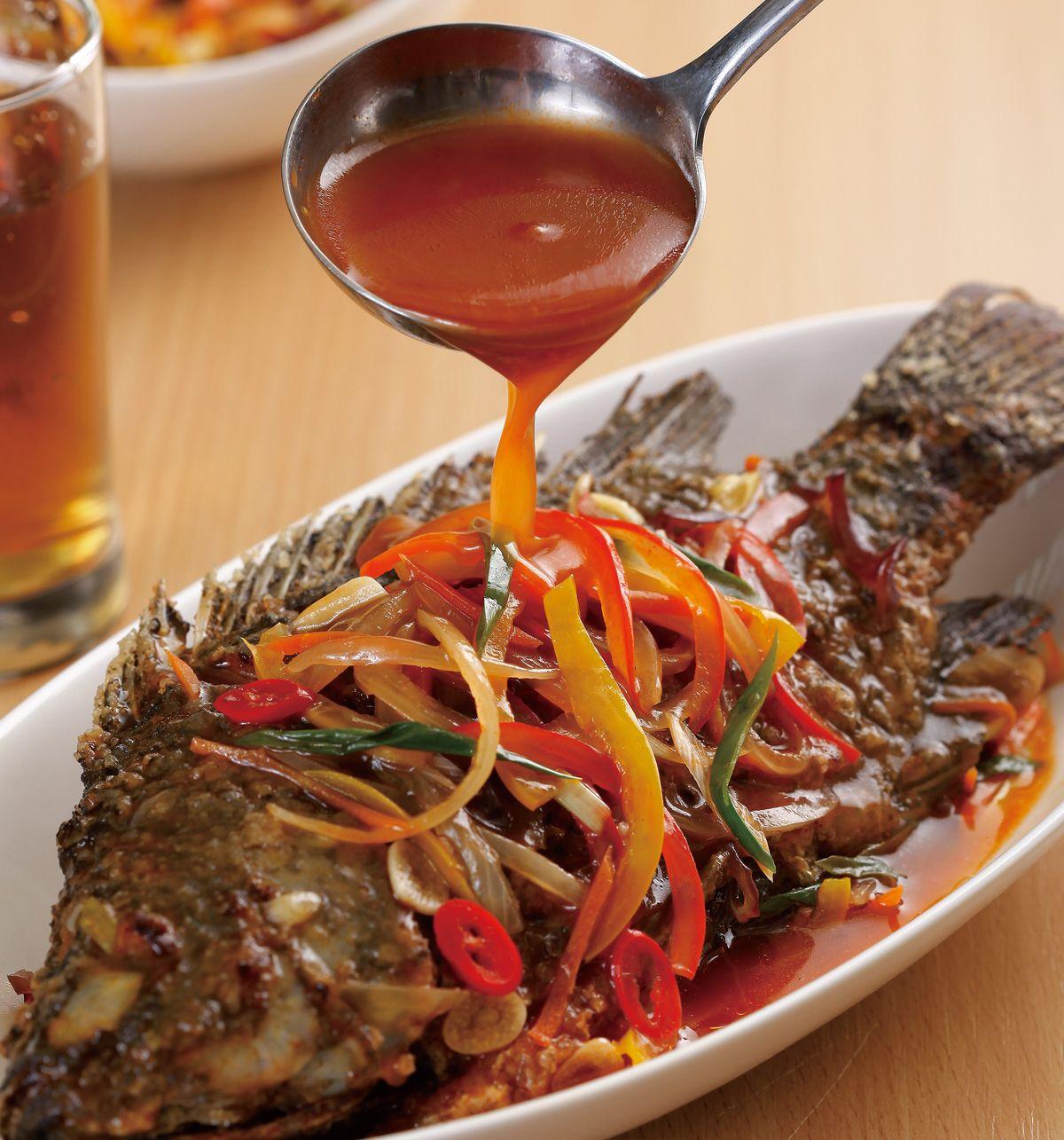 食譜:五柳燴全魚