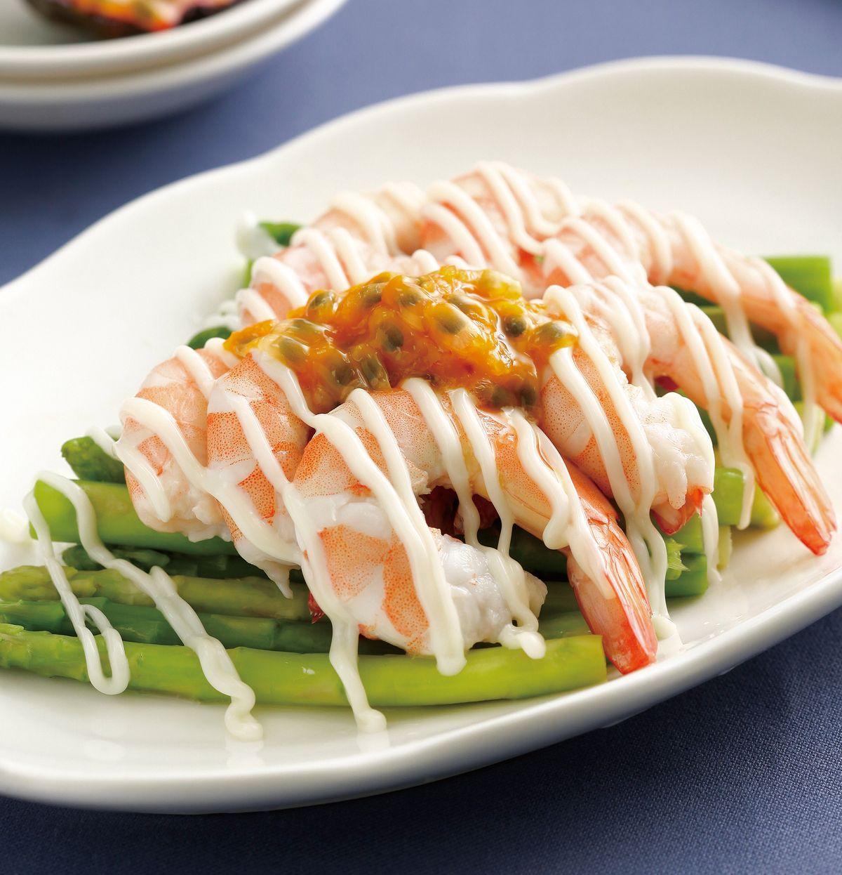 食譜:百香果沙拉蝦