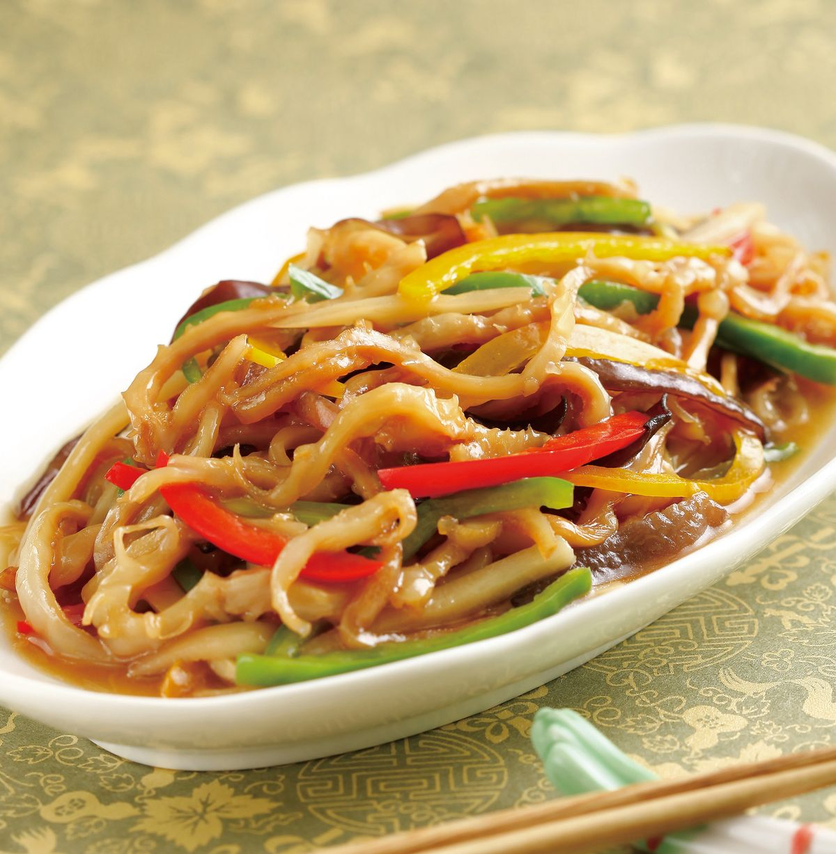 食譜:五彩炒海蜇