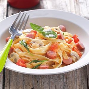 番茄香腸義大利麵