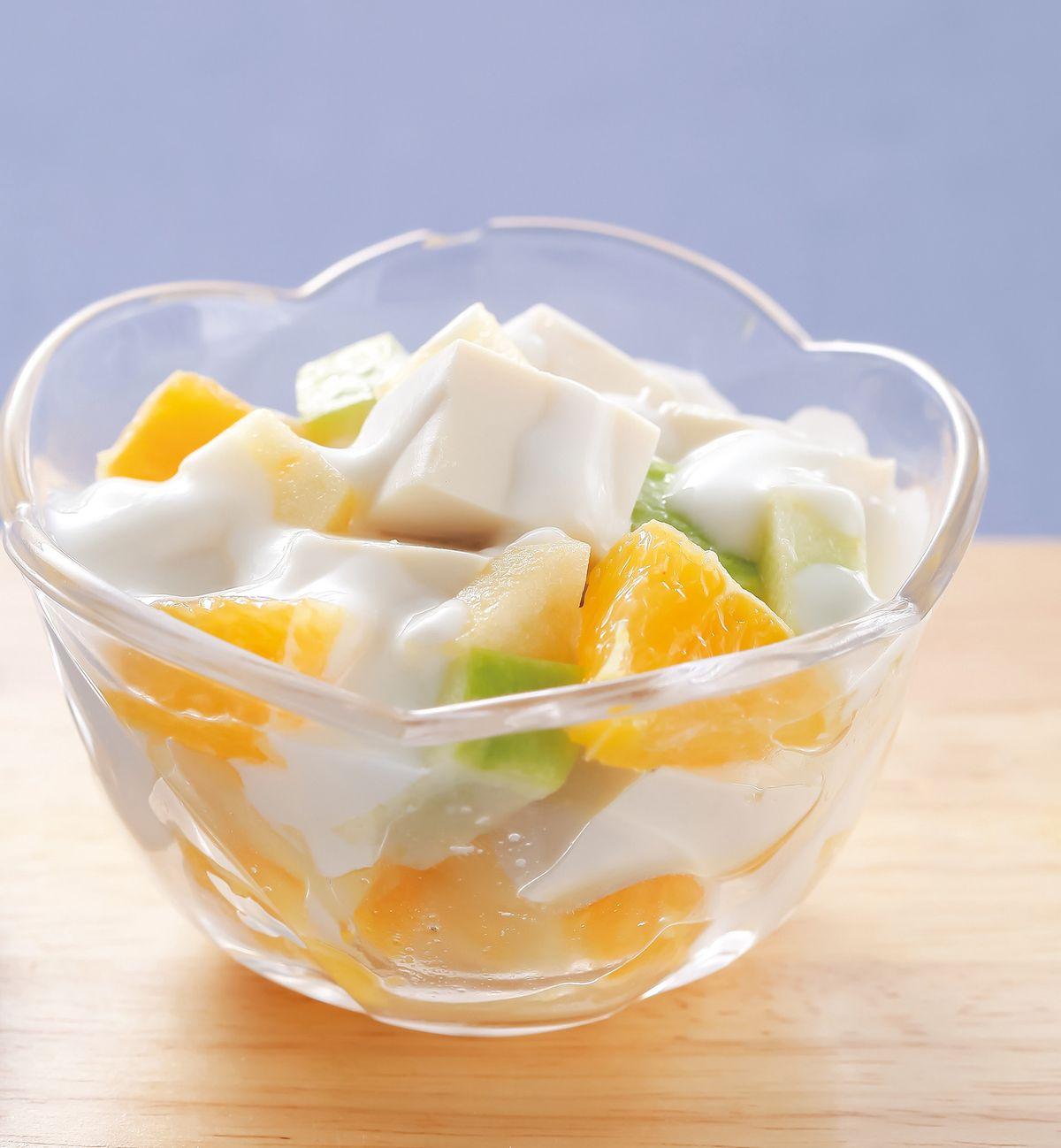 食譜:水果優格豆腐