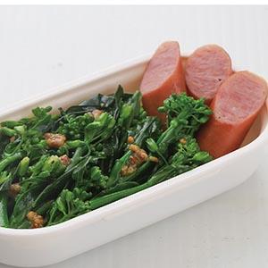 拌油菜花佐德式香腸