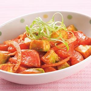 辣醬鮭魚拌酪梨