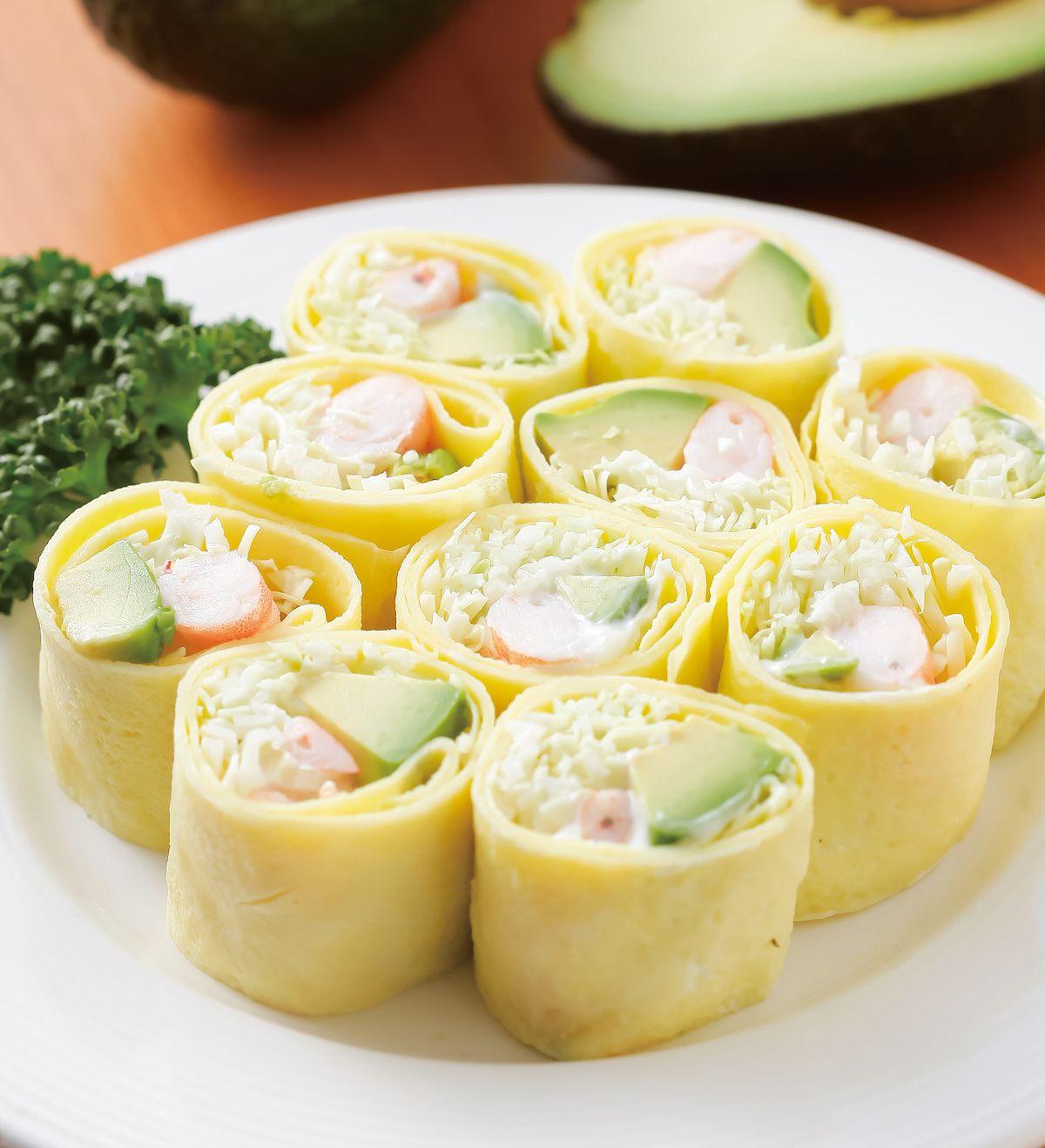 食譜:酪梨沙拉蛋捲