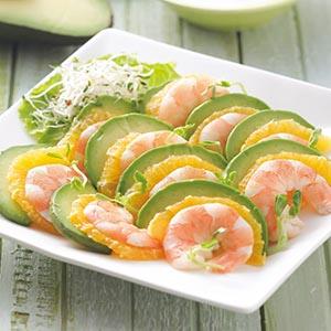 柳橙酪梨蝦沙拉