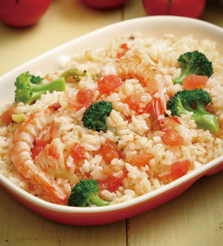 食譜:番茄鮮蝦飯