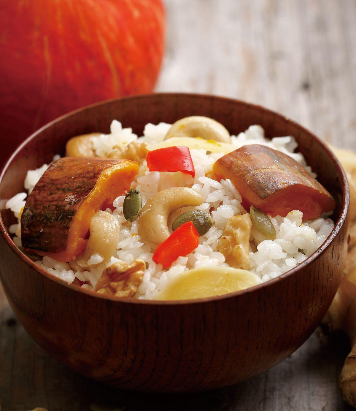 食譜:南瓜堅果炊飯
