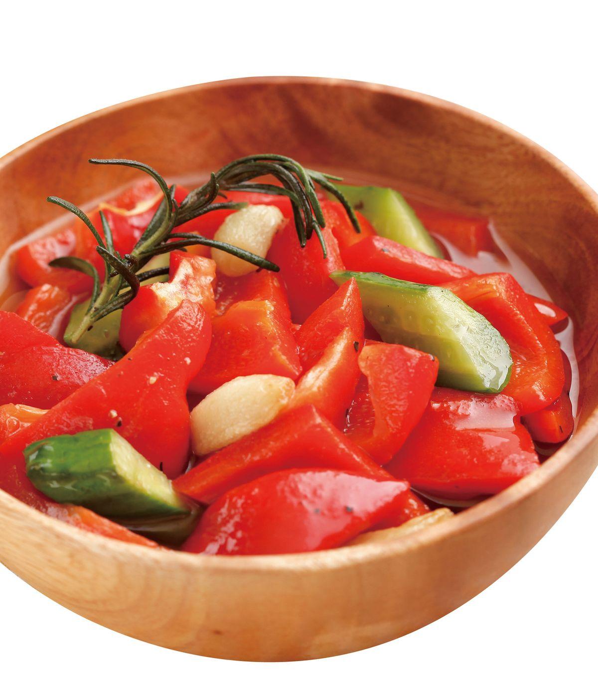 食譜:義式蒜味紅椒沙拉